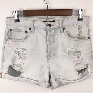 Forever 21 | Destroyed Lightwash Denim Shorts | 28